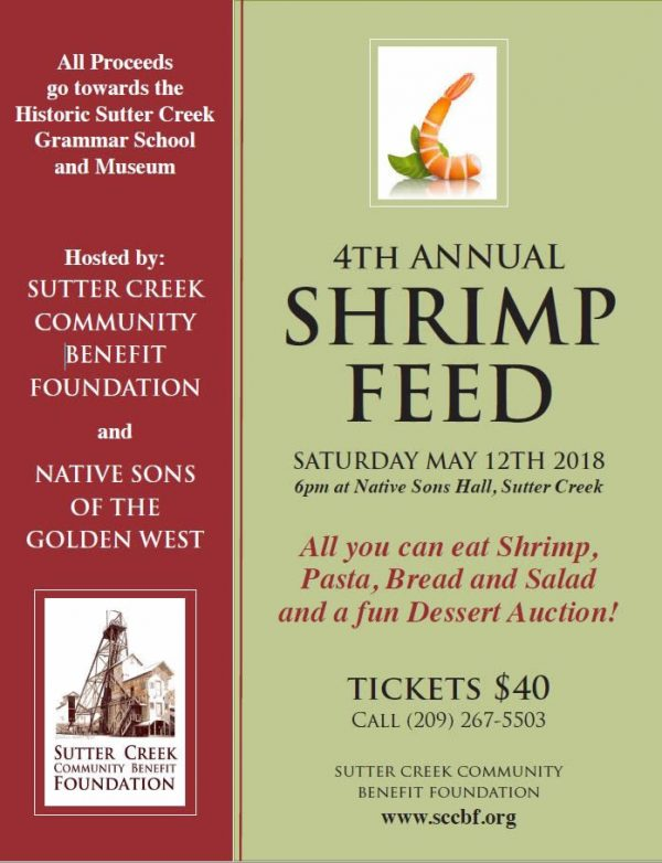 sutter creek shrimp feed 2018